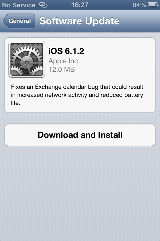 iOS 6.1.2 is available