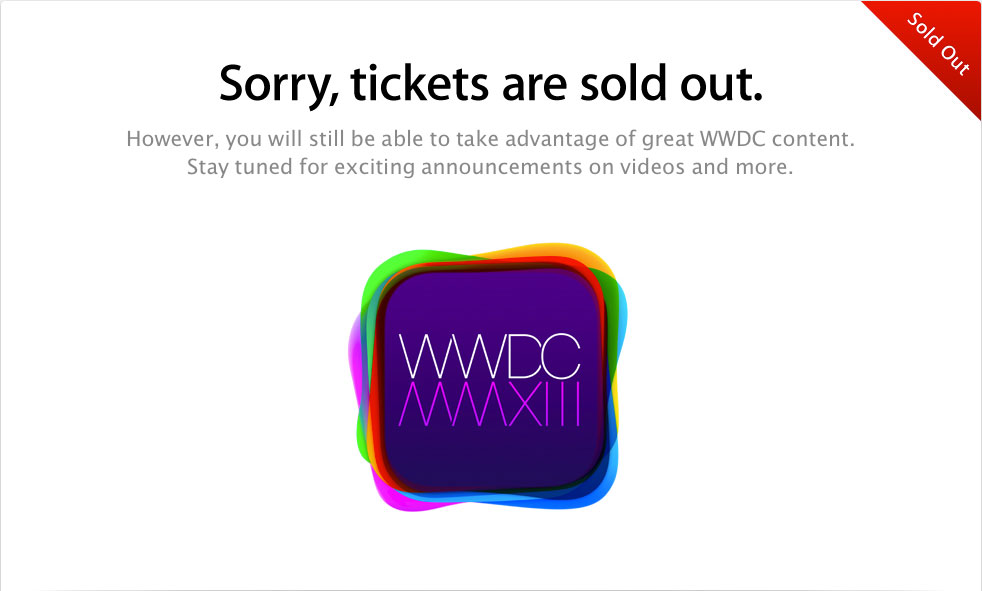 WWDC-2013-Tickets-Sold-Out