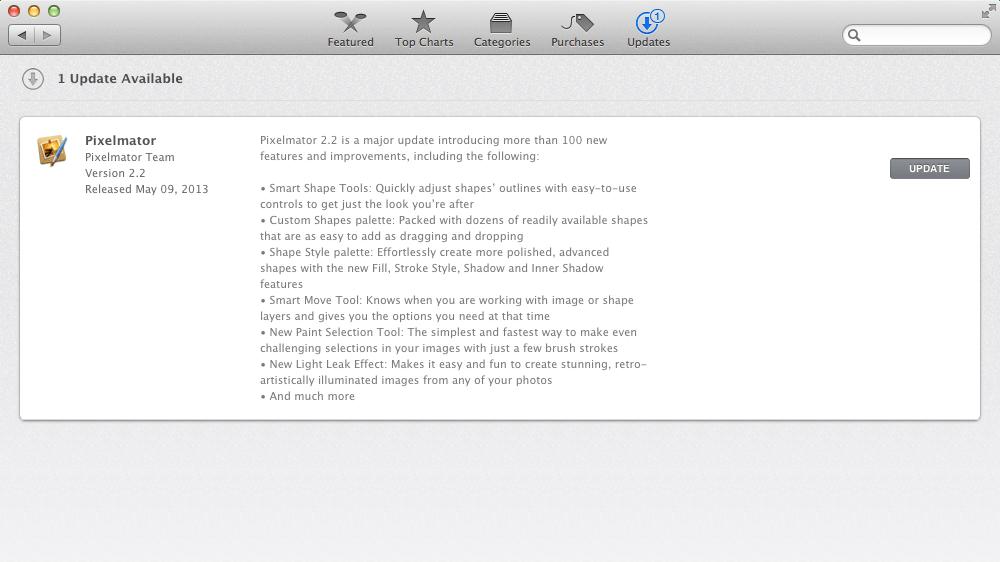 Pixelmator 2.2 Update