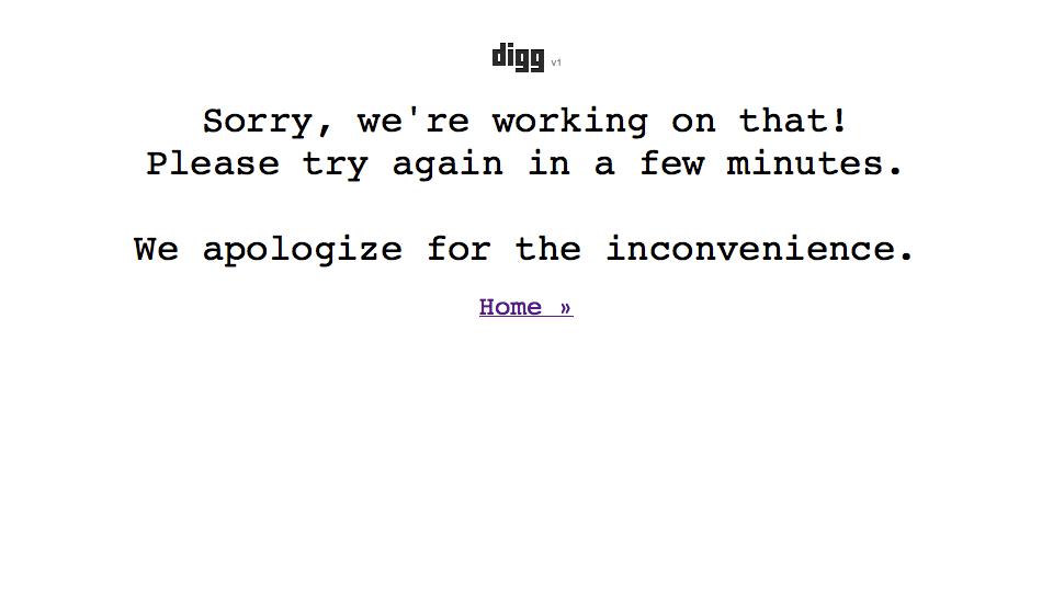 Digg has been Dugg