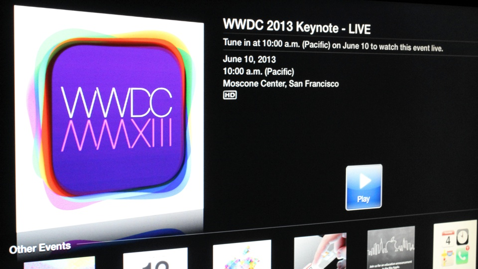WWDC 2013 Keynote Apple TV Live