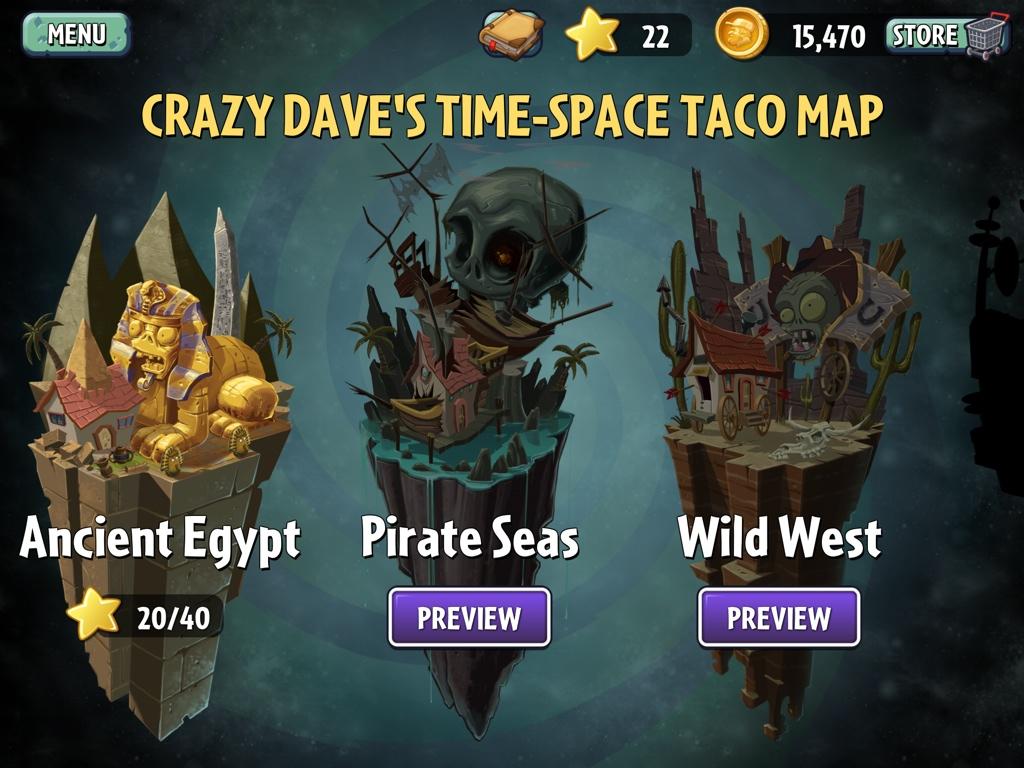 Plants vs Zombies 2 Taco Map 1