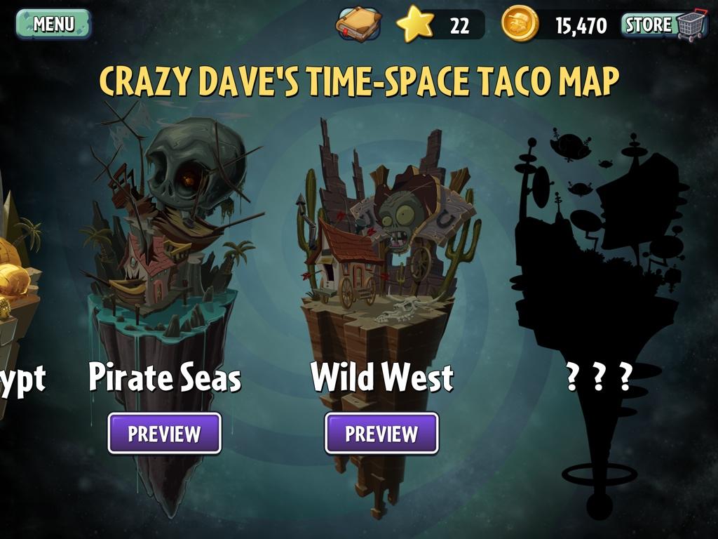 Plants vs Zombies 2 Taco Map 2