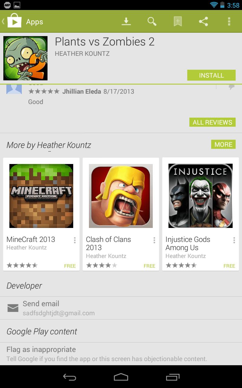 Impostors at Google Play 2