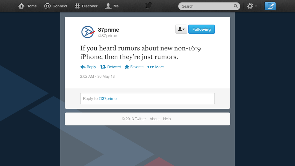 Twitter 37prime 16-by-9 iPhone