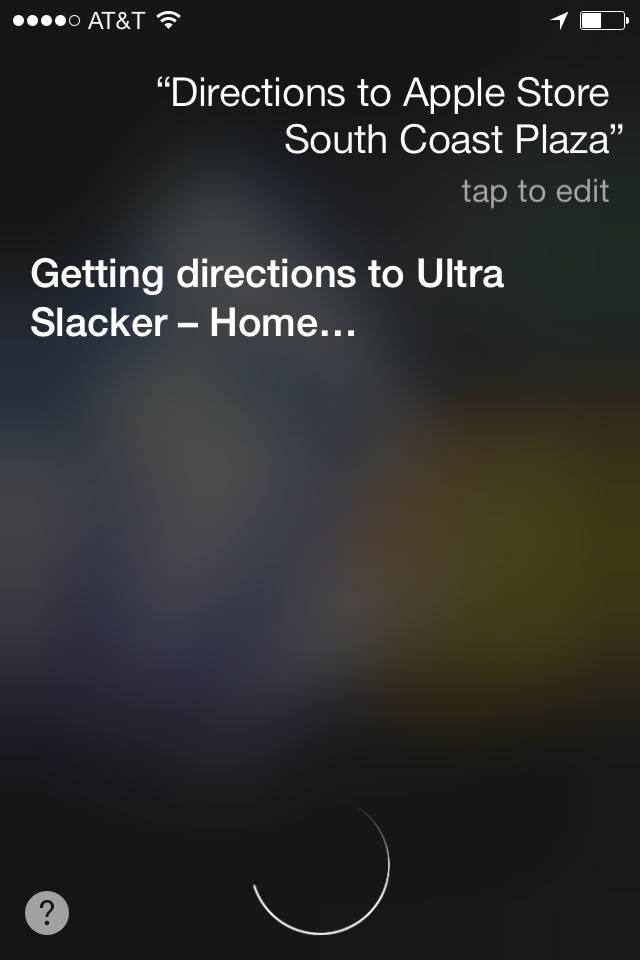 Siri on iOS 7 is confused