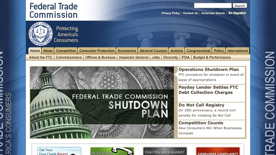 FTC on Government Shutdown