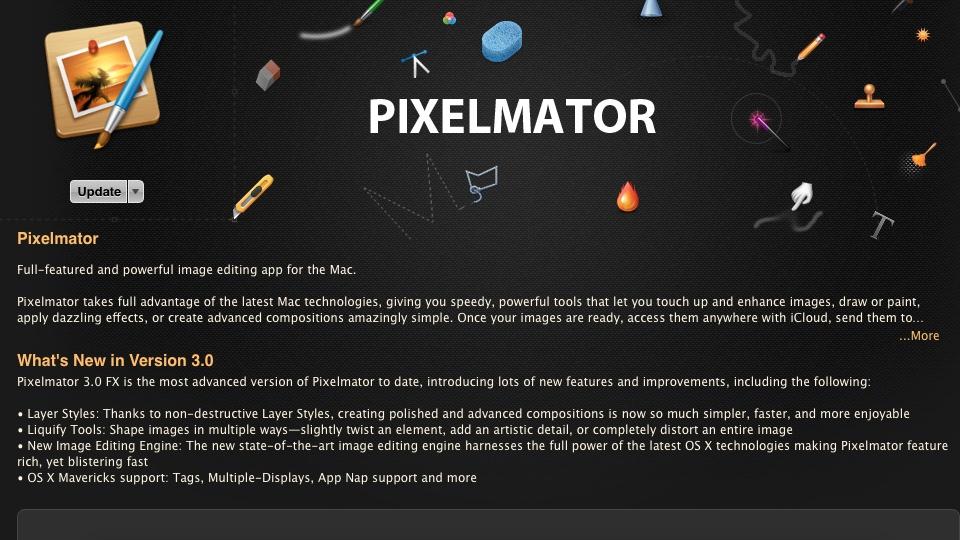 Pixelmator 3.0 FX at Mac App Store