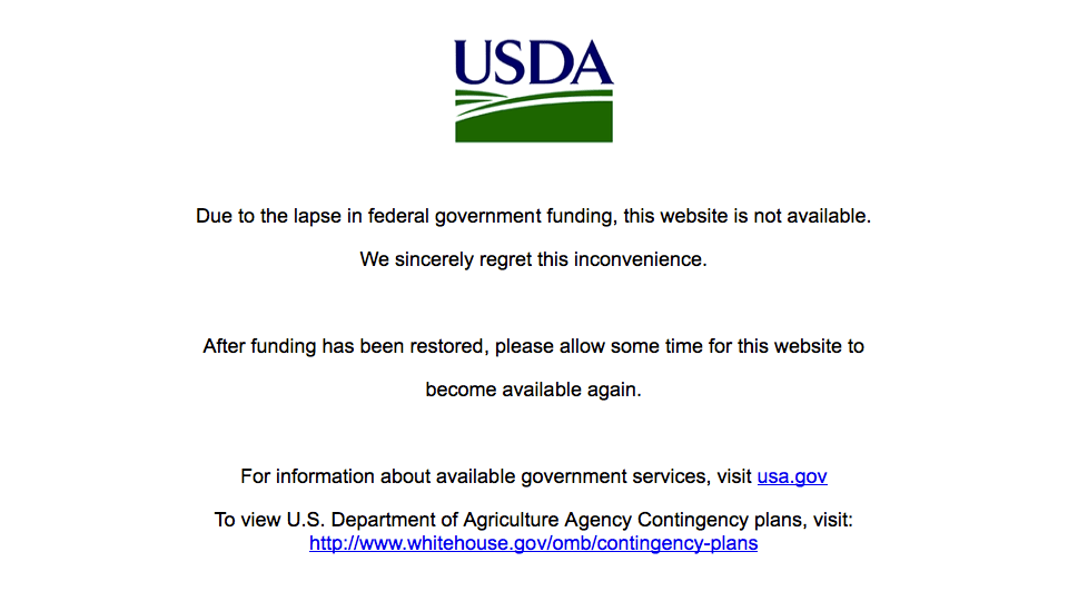 USDA is Down