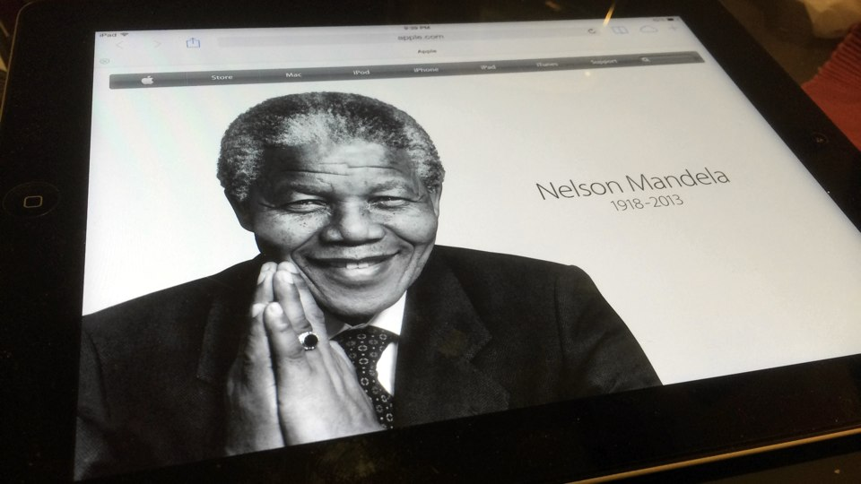 Apple Homepage Nelson Mandela