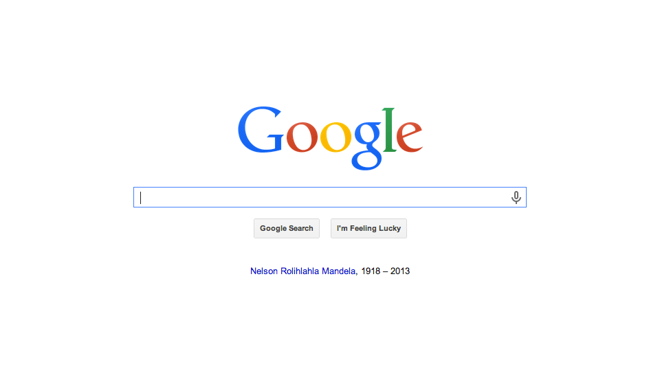 Google Pays Tribute to Nelson Mandela