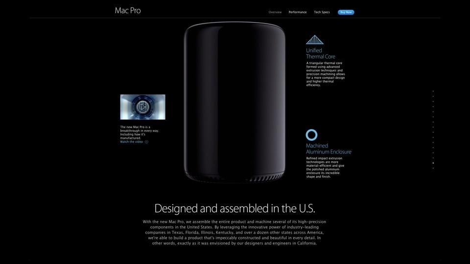 Mac Pro Designed and assembled in the U.S.