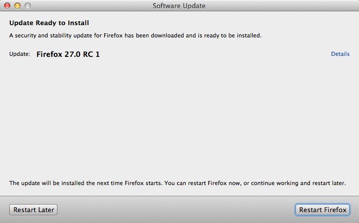 Firefox 27.0 RC1