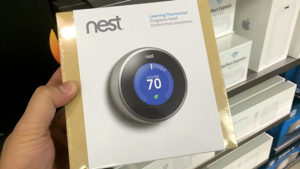 Nest Thermostat at Apple Store