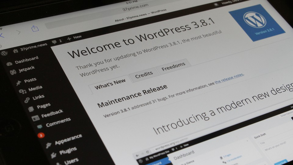 WordPress 3.8.1