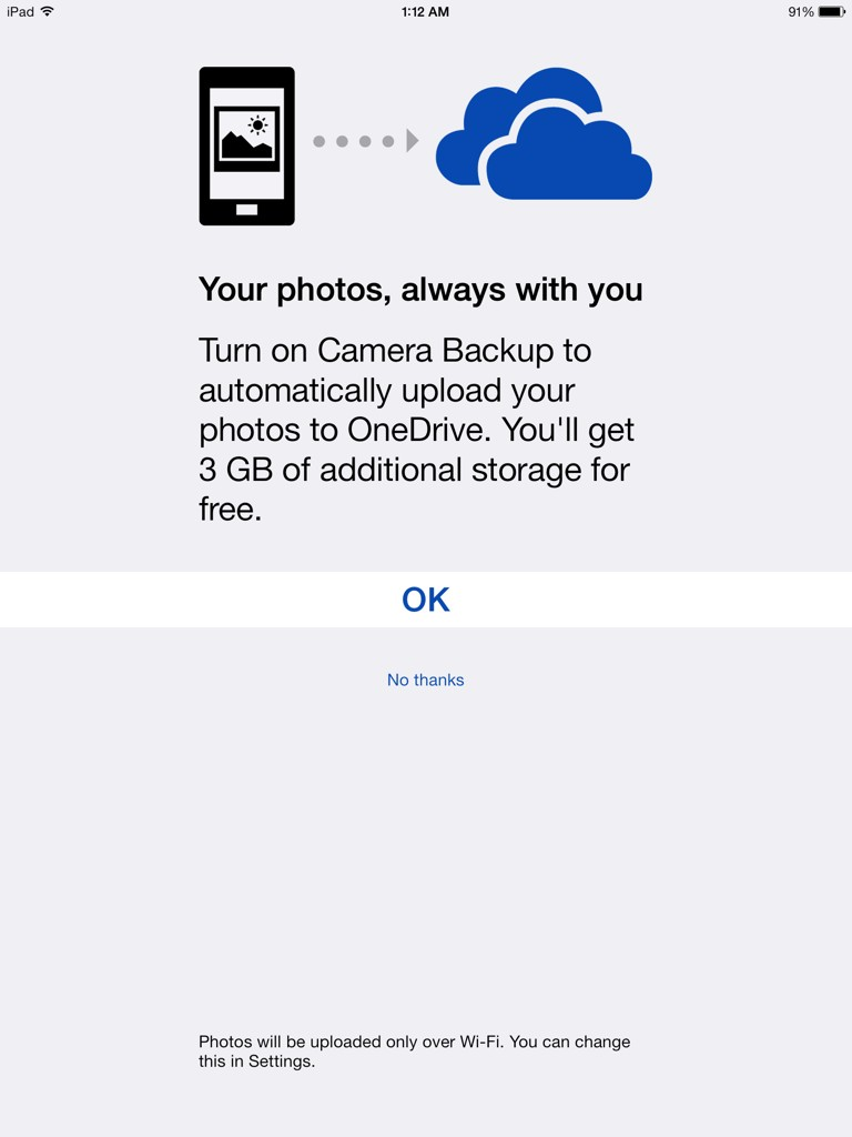Microsoft OneDrive 3 GB Camera Upload Bonus
