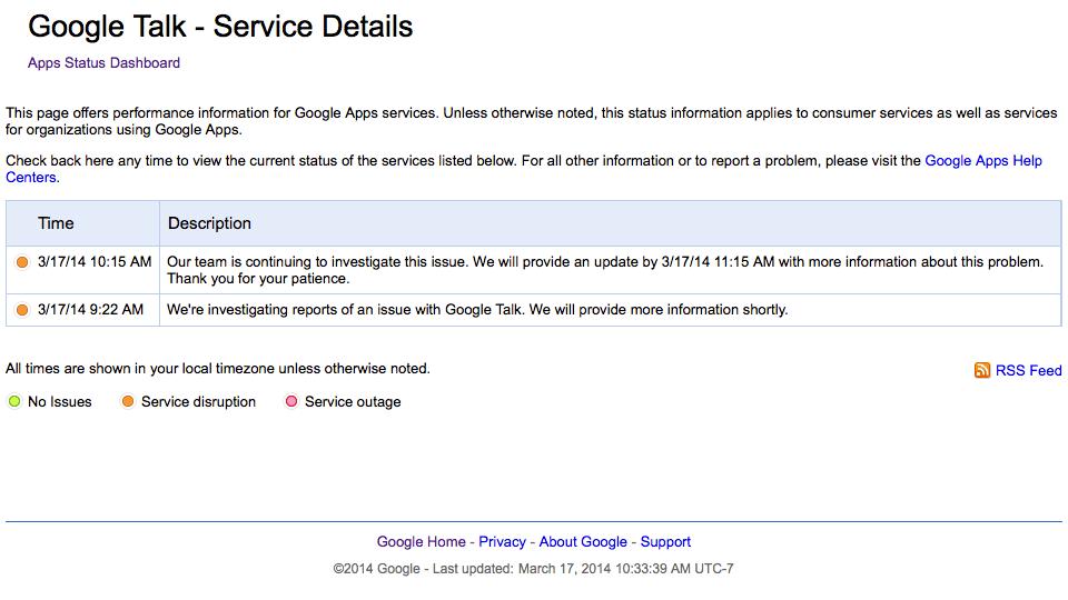 20140317 Google Talk is down