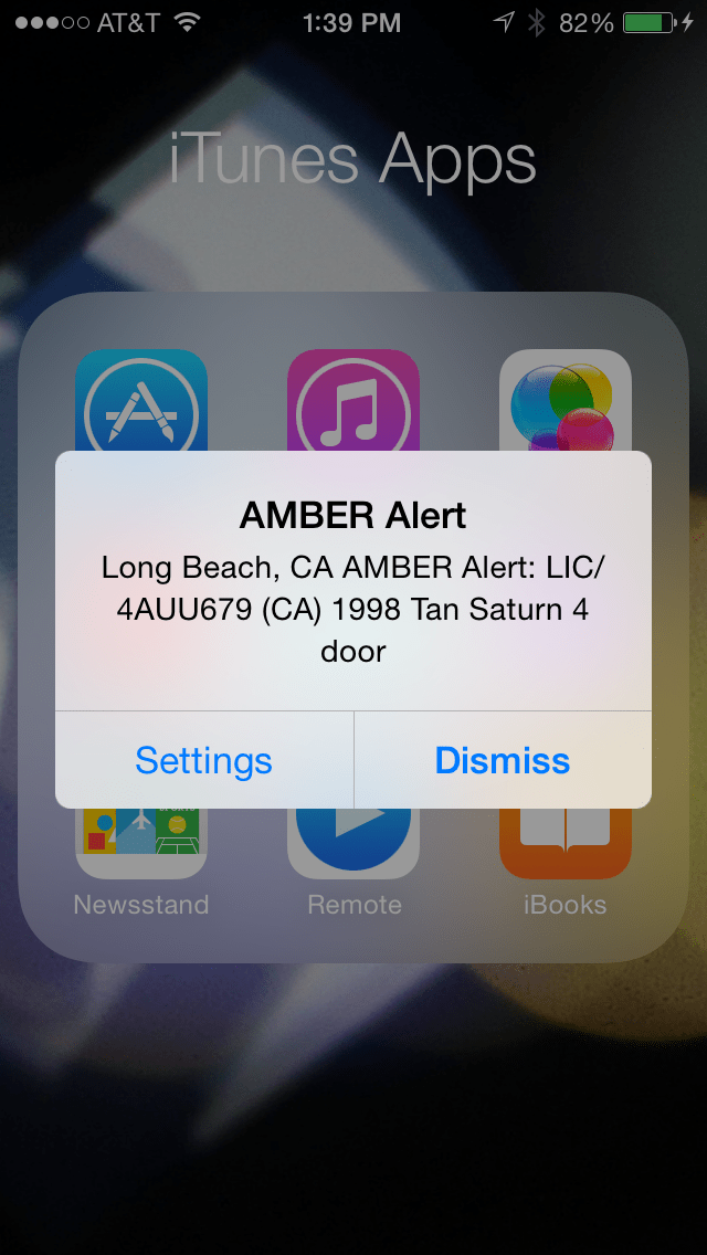 AMBER Alert Long Beach, California 2014-03-10 13:29