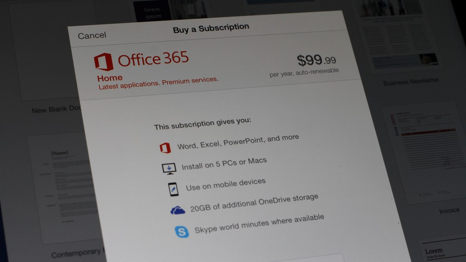 Office 365 In-App Purchase in IOS
