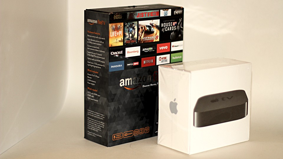 Amazon Fire TV and Apple TV boxes