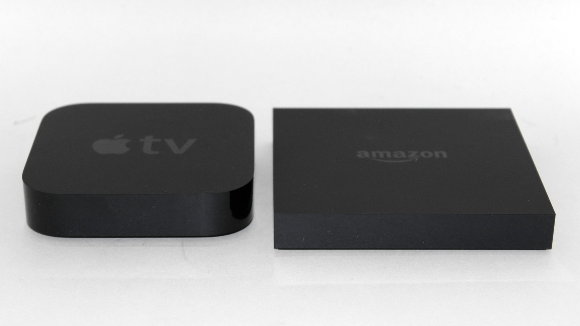 Amazon Fire TV and Apple TV side by side