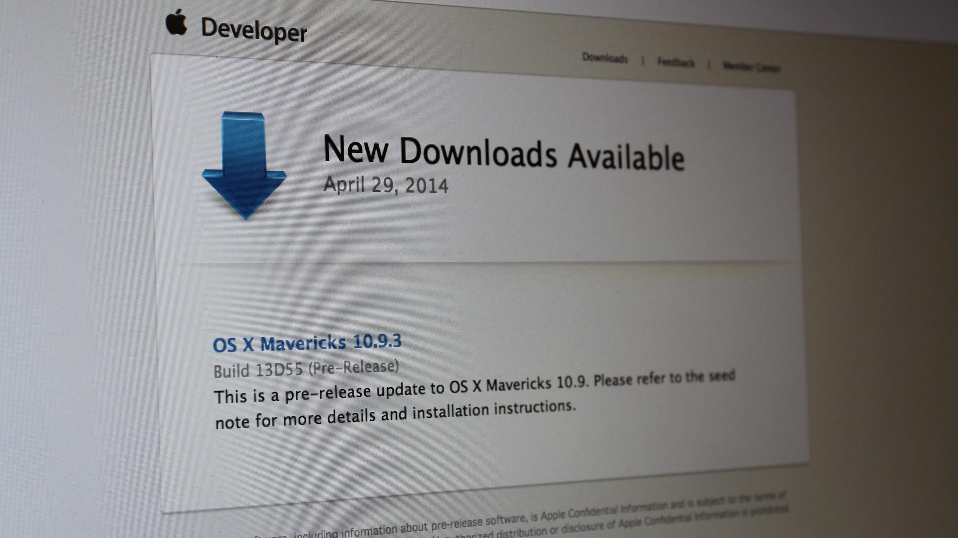 OS X Mavericks 10.9.3 build 13D55