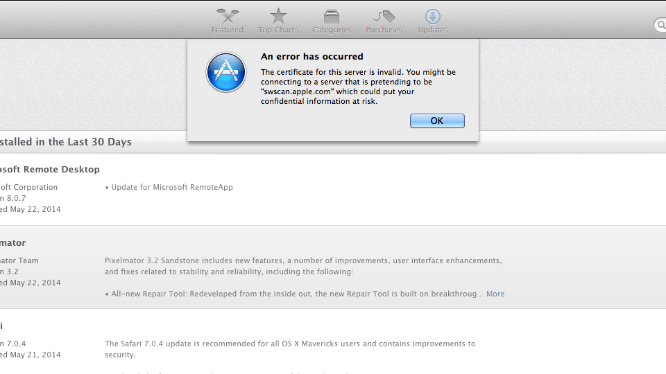 Apple-Software-Update-SSL-Error