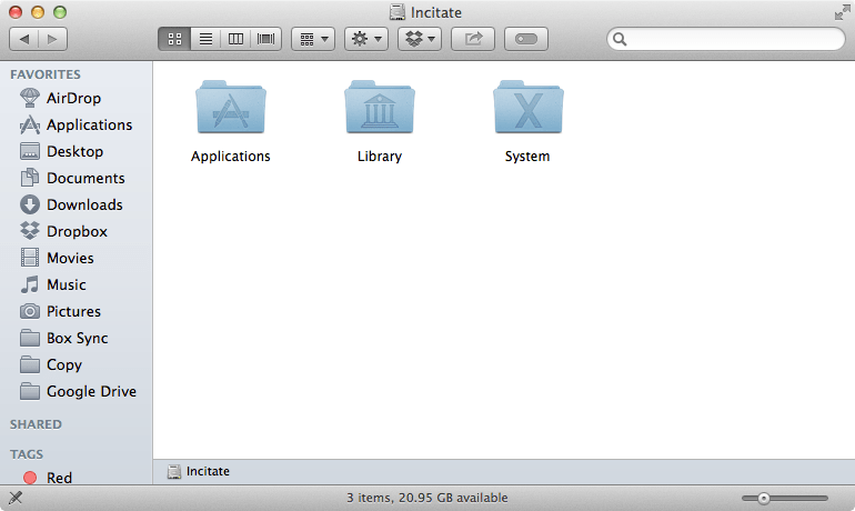 OS X Mavericks 10.9.3 Disk Root Level no Users Folder