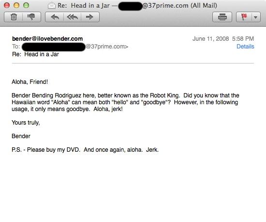 ILoveBender Email 2