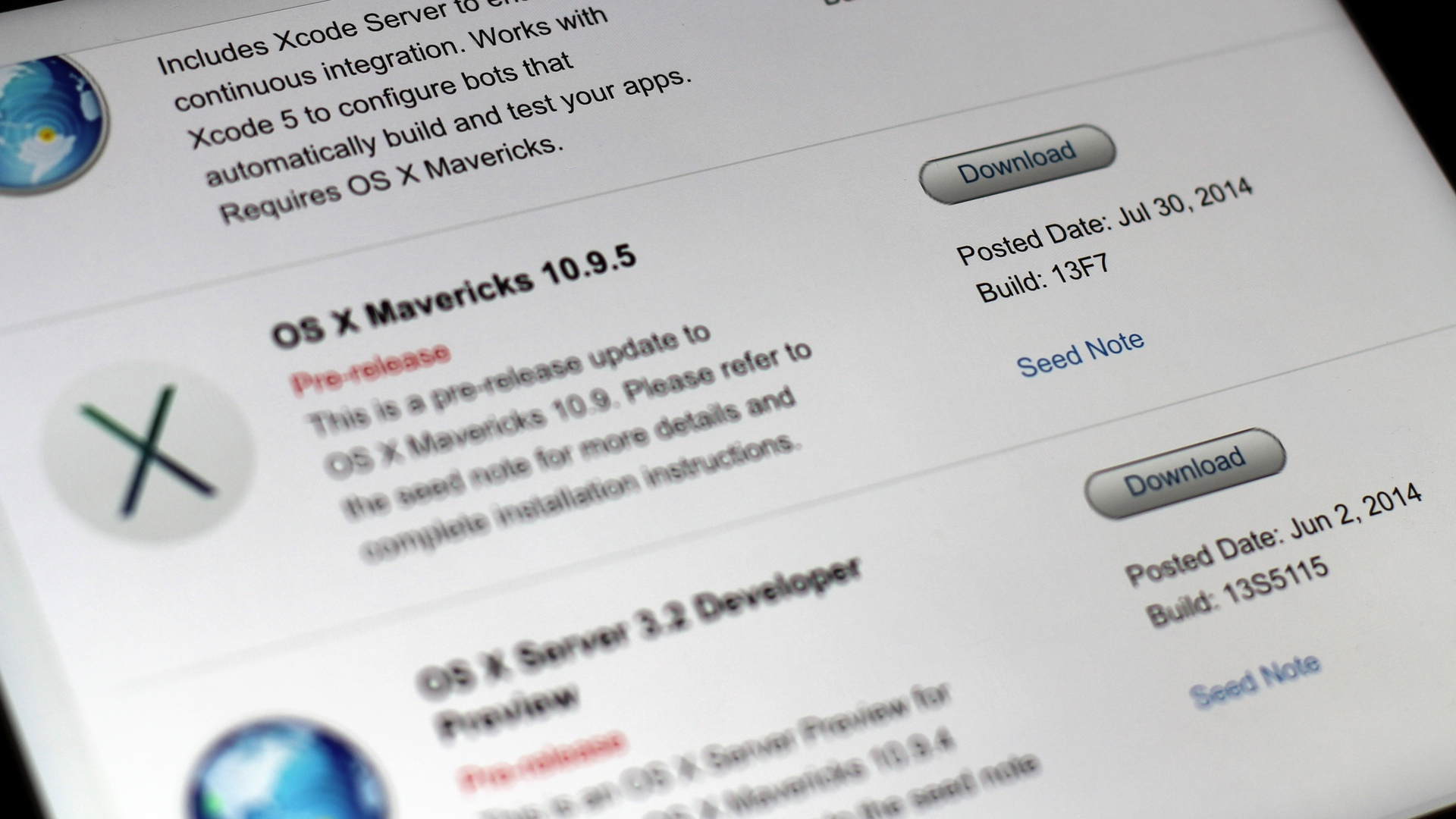 OS X Update Seed 10.9.5 build 13F7
