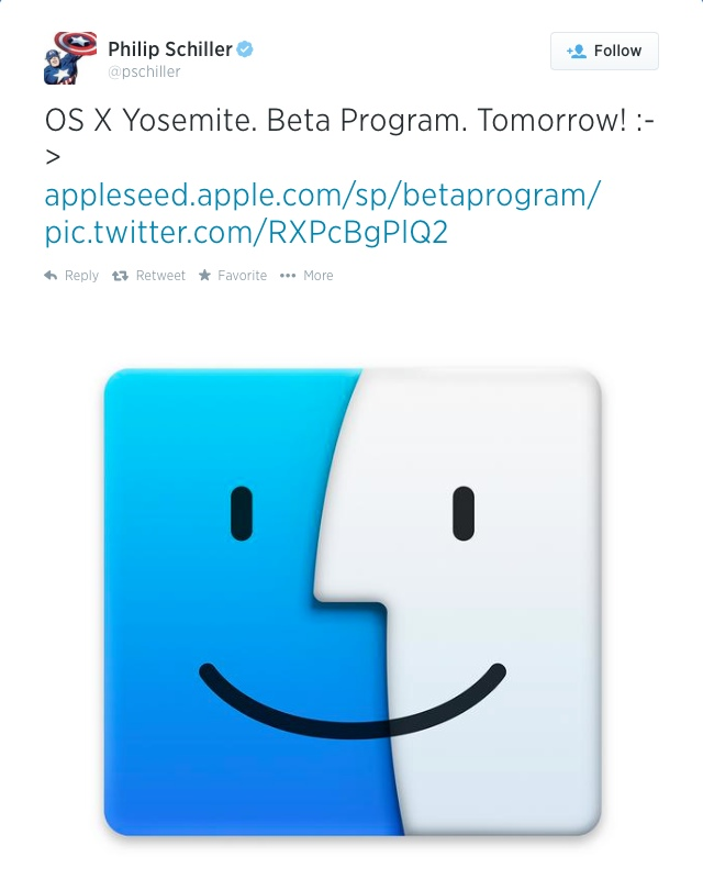Phil Schiller OS X Yosemite Beta