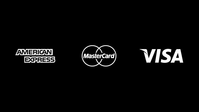 Apple Pay American Express MasterCard Visa