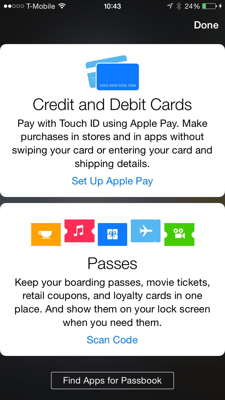 Apple Pay Setup 1