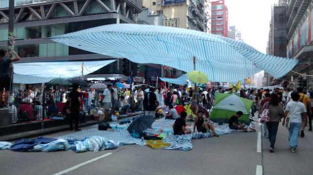 Democracy Protests in Mong Kok, Hong Kong