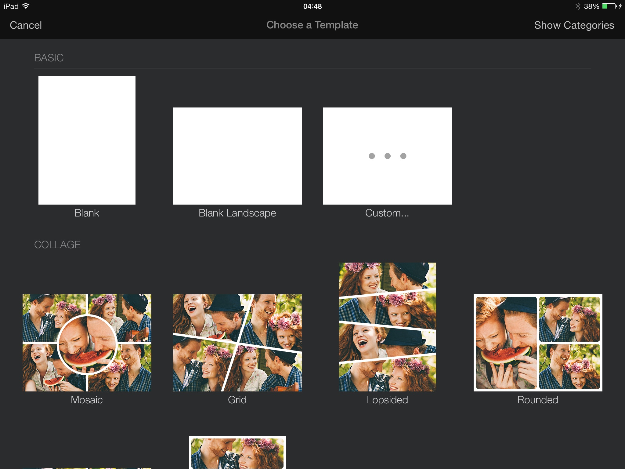 Pixelmator for iPad Create Image