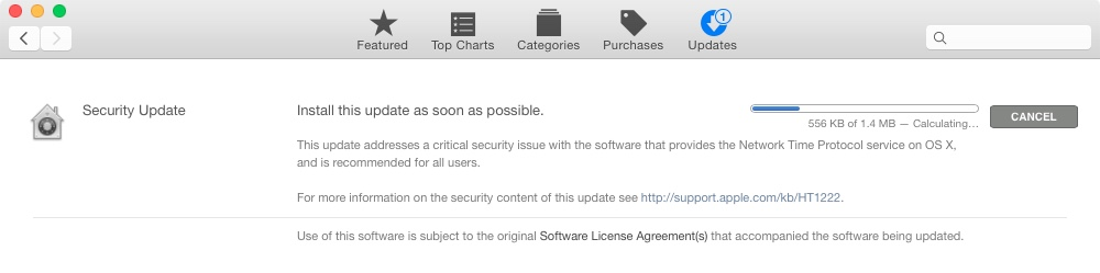 Apple NTP Security Update 20141222