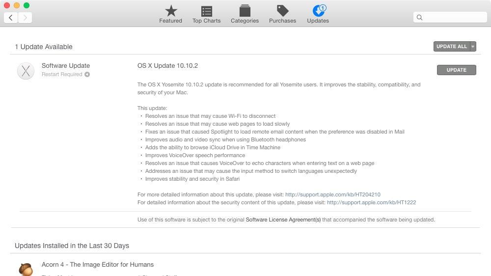 OS X Update 10.10.2
