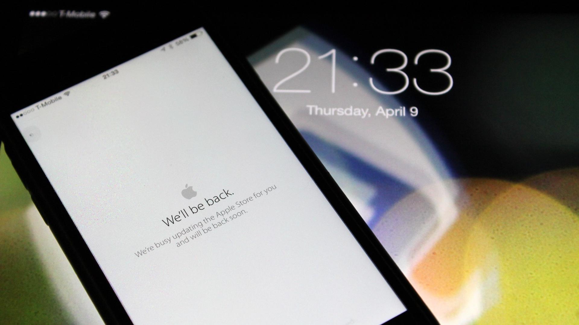 Apple Store Offline Apple Watch Pre-Order