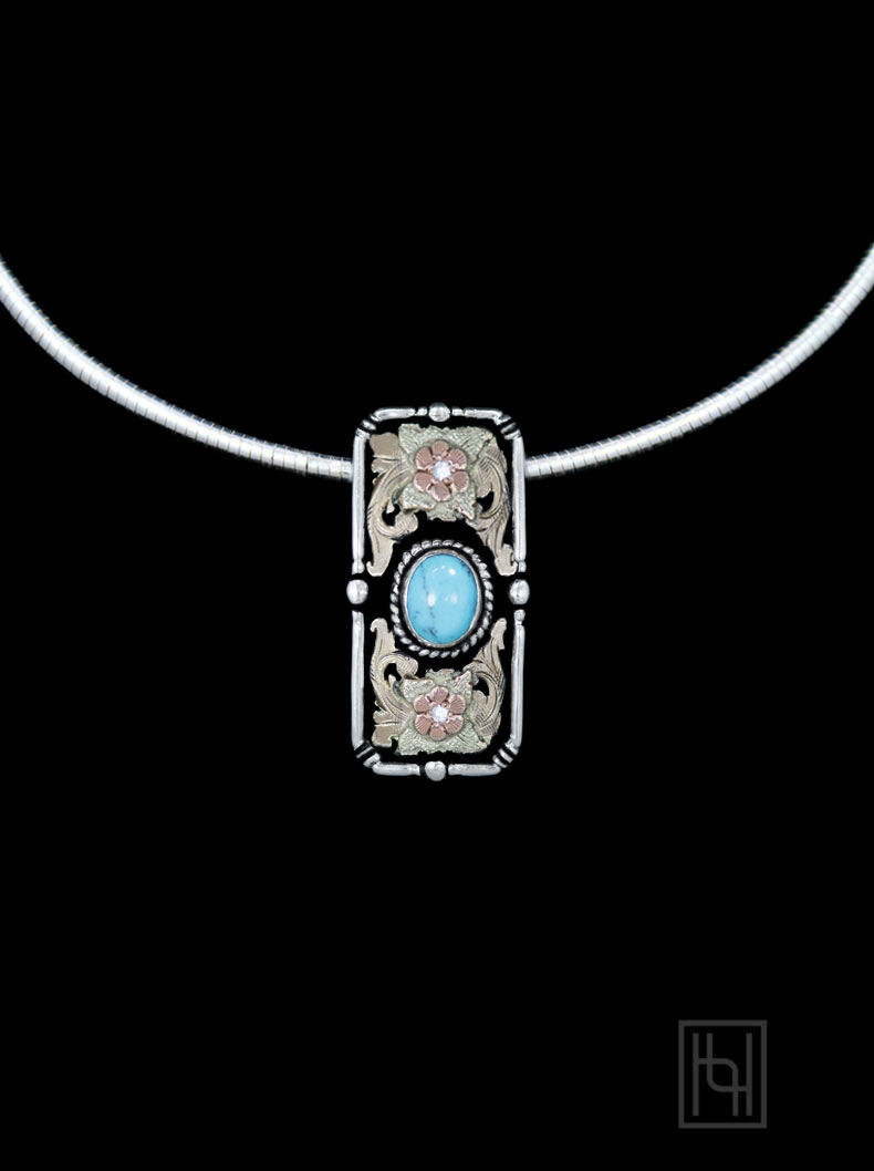 Chichi Turquoise Omega Necklace Necklaces By Hyo Silver