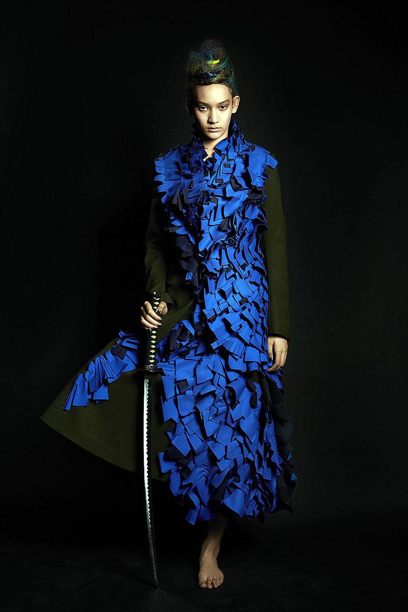 Mona Matsuoka in Yohji Yamamoto AW14 by Shiraz Randeria for Wallpaper* (Thai Edition), October 2014.