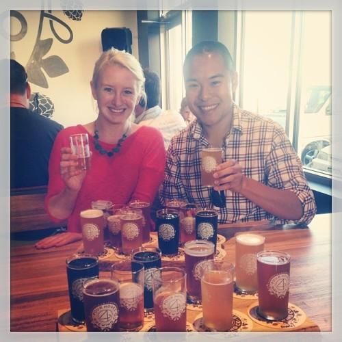 PorchDrinkers goin hard on our random meet up. @tristanechan @porchdrinkingco @4nosebrewing #drinkandspoon #drink #beer #brewery #beerporn #beerstagram #bestoftheday #craftbeer #craftbeercommunity