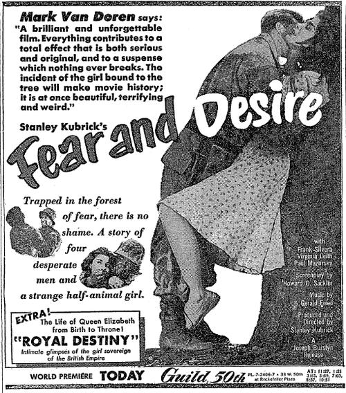 Stanley Kubrick's FEAR & DESIRE (1953) – THE DIRECTORS SERIES