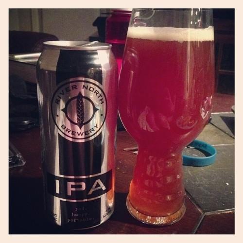 Tonight's drink of choice: @rivernorthbrew IPA #drinkandspoon #craftbeer #craftbeercommunity #beer #beerporn #beerpics #instabeer #instagood