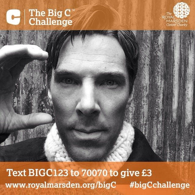 @royalmarsden: Congrats to Benedict Cumberbatch on his @TheEmmys win - & for supporting our #bigCchallenge! http://t.co/nBLdRmkOzu http://t.co/zQwxbhYExZ