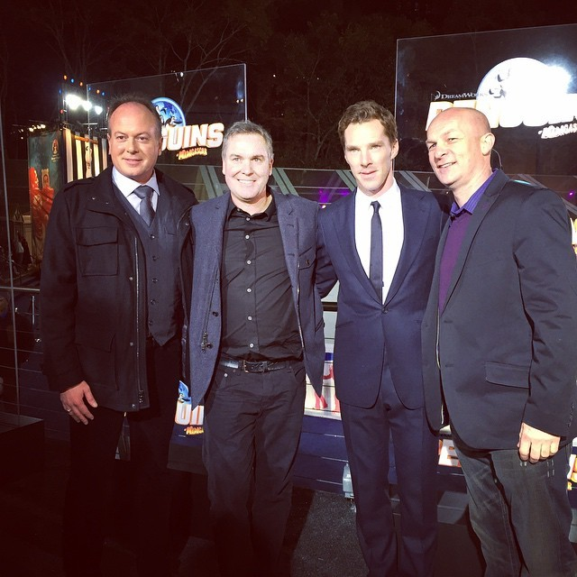 dreamworksanimation:  The Penguins and North Wind unite at the #PenguinsMovie premiere!