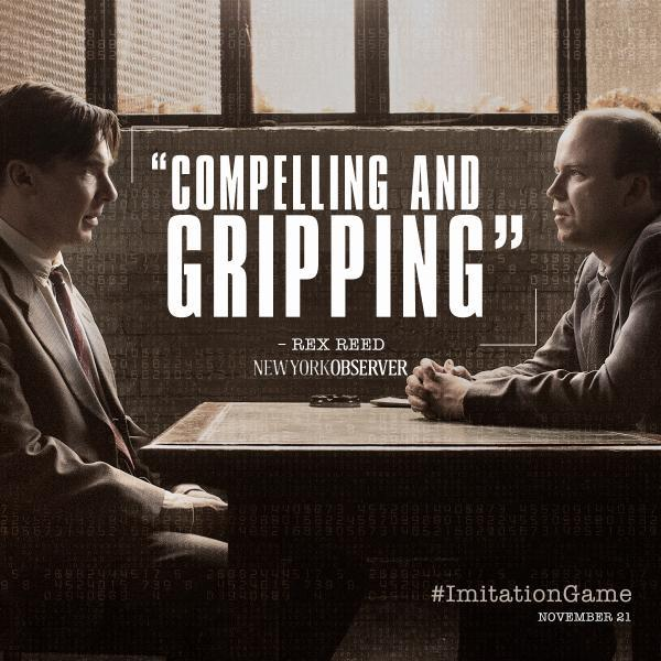 The Imitation Game   See the film that is captivating audiences. The #ImitationGame comes to theaters November 21.