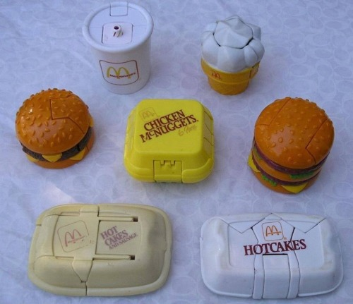 "I follow ""Child of the 80s"" on facebook so I can see pictures like these and get all nostalgic. When I was a little kid my cousin (who is 13 years older than me) dated the manager of a Hawaii McDonald's. He would always give me the entire set of Happy Meal toys as a present when they would babysit me. I was so sad when they broke up."