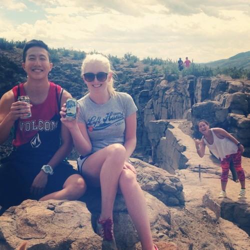 Hiking, beers, and photobombs.  #drinkandspoon #drinklocal #golden #colorado #beer #craftbeer #instabeer