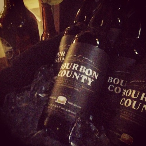 Is that a 2009 Bourbon County Stout? Yes. Did I drink it? Definitely. @gooseislandbeer #migrationweek #drinkandspoon #beer #beerporn #beerstagram #instabeer #craftbeer #bourboncounty