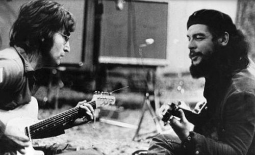 cafeparaacordarosmortos:&lt;br /&gt;<br /> &lt;p&gt;October 9th, 2011&lt;br /&gt;&lt;br /&gt;<br /> If alive, John Lennon would turn 71 years of age today. Exactly 44 years ago, Che Guevara was murdered by the CIA and the Bolivian Army.&lt;br /&gt;&lt;br /&gt;<br />